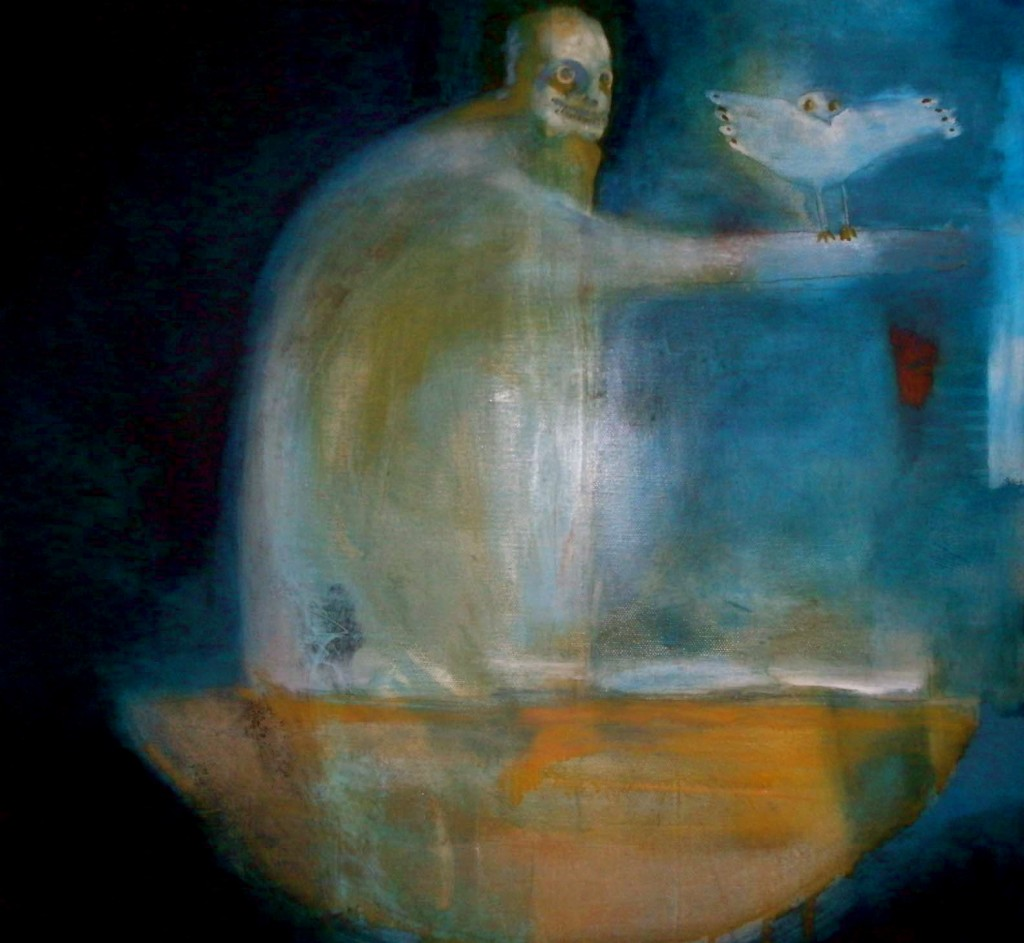 The Adventure of  Man and  Owl, Oil on Canvas, 2010.