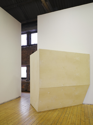 Dennis McNulty: Box with the sound of our unmaking (2010) Plywood and sound, edition of 3; photo: Ros Kavanagh.