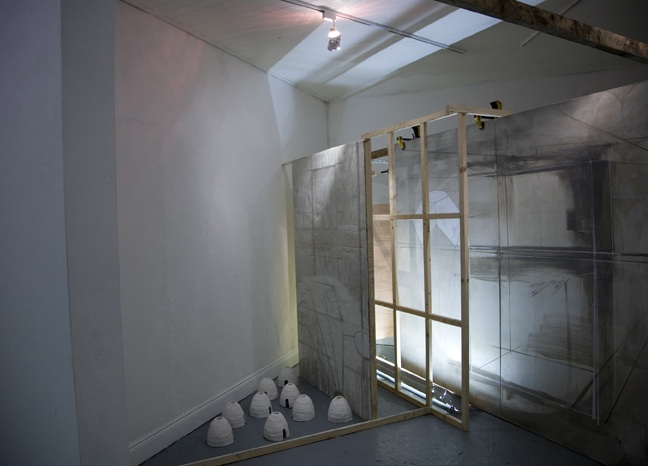 Neil Carroll: Working Backwards, installation shot, the Joinery, 2011; photo Miranda Driscoll.
