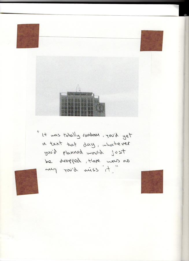 Emma Haugh, photograph, notebook, 2011; image courtesy the artist.