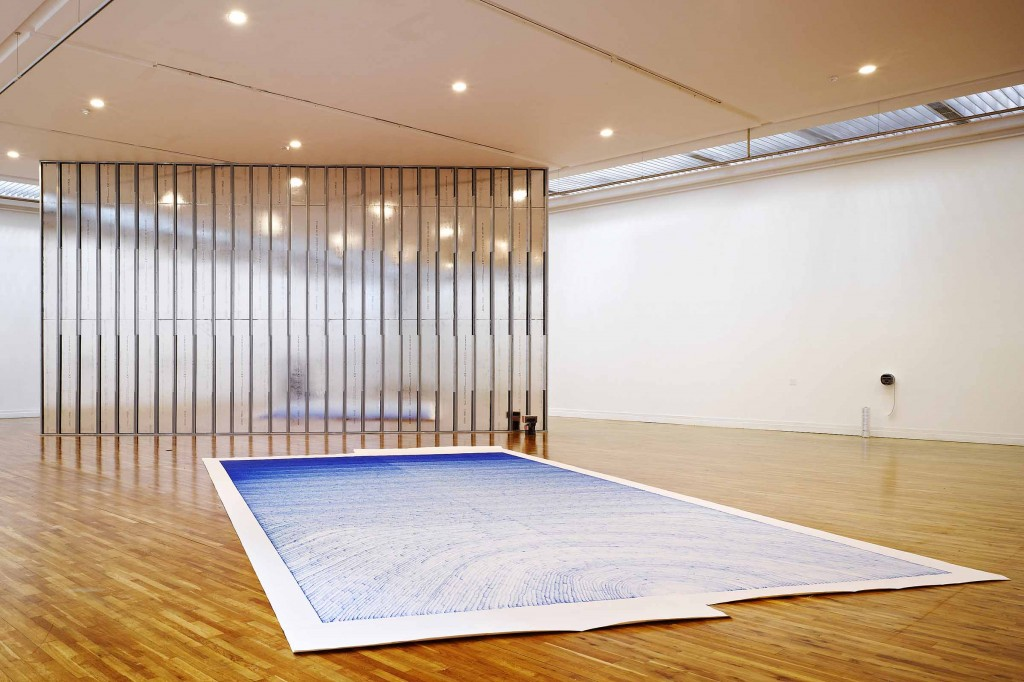 Brendan Earley: A Place Between, 2011-12 Felt tipped pen on paper. 9x5m.