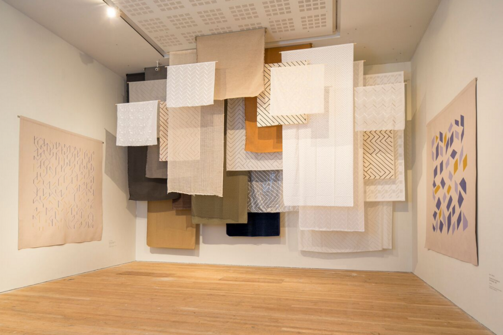Anni Albers, installation view of materials