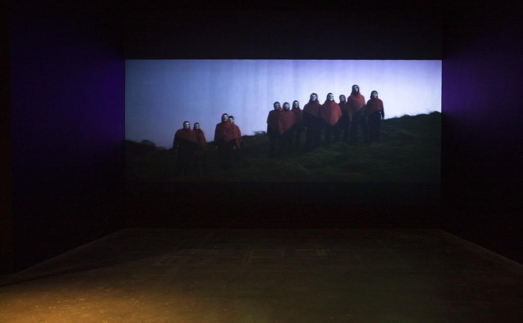 Clodagh Emoe, Parados, 2009, exhibition view of film