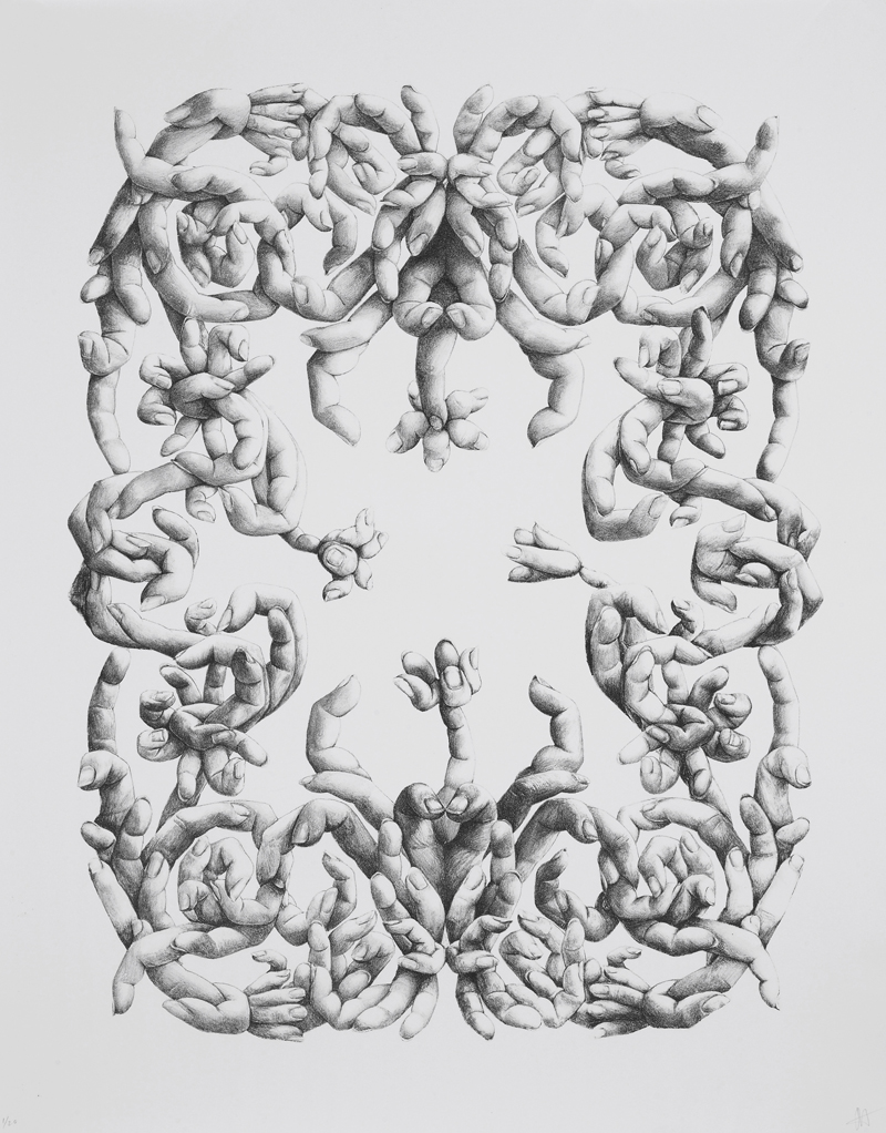 Jessica Harrison, Fingerprint, Lithographic Print, 2008_ Image courtesy of The Black Church Print Studio(2)