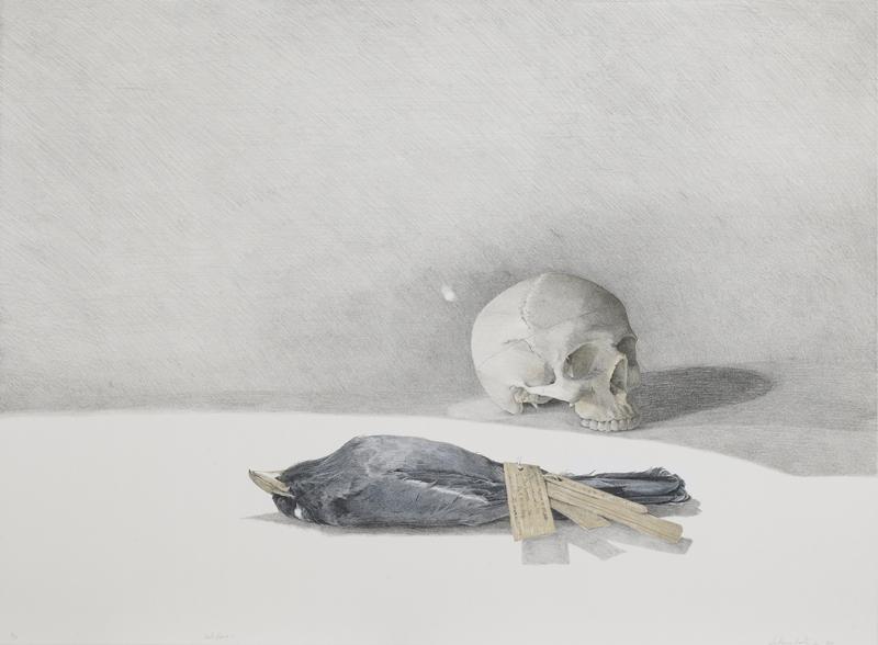 John Pusateri- Scale Figure I, Lithographic Print, 2010_ Image courtesy of The Black Church Print Studio