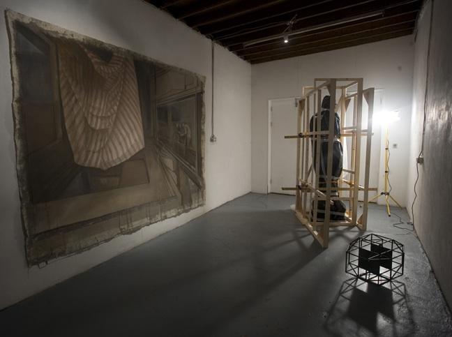 Neil Carroll: Working Backwards, installation shot, the Joinery, 2011; photo Miranda Driscoll.