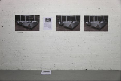 Installation image of A Monument with No Name by Elis Caldana; courtesy of the artist and Occupy Space.