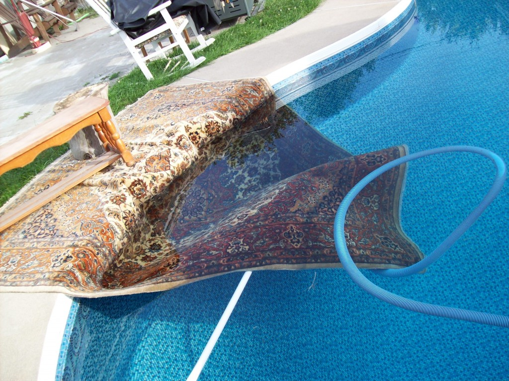 Angela Darby & Robert Peters: Persian Rug in a Swimming Pool, digital photograph; image courtesy of the artists.