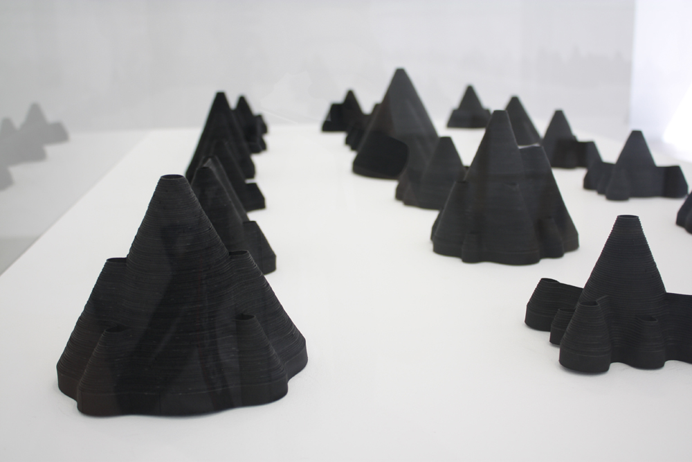 Niall de Buitlear: Untitled, paper sculptures, installation(detail), 2011; image courtesy the artist.