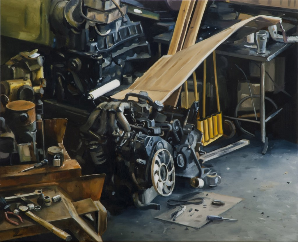Kevin Cosgrove: Workshop (with Cardboad); Image courtesy mother's tankstation and the artist.