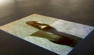 Robert Lasidlas Derr: Walking in my shoes, floor projection, 2012.