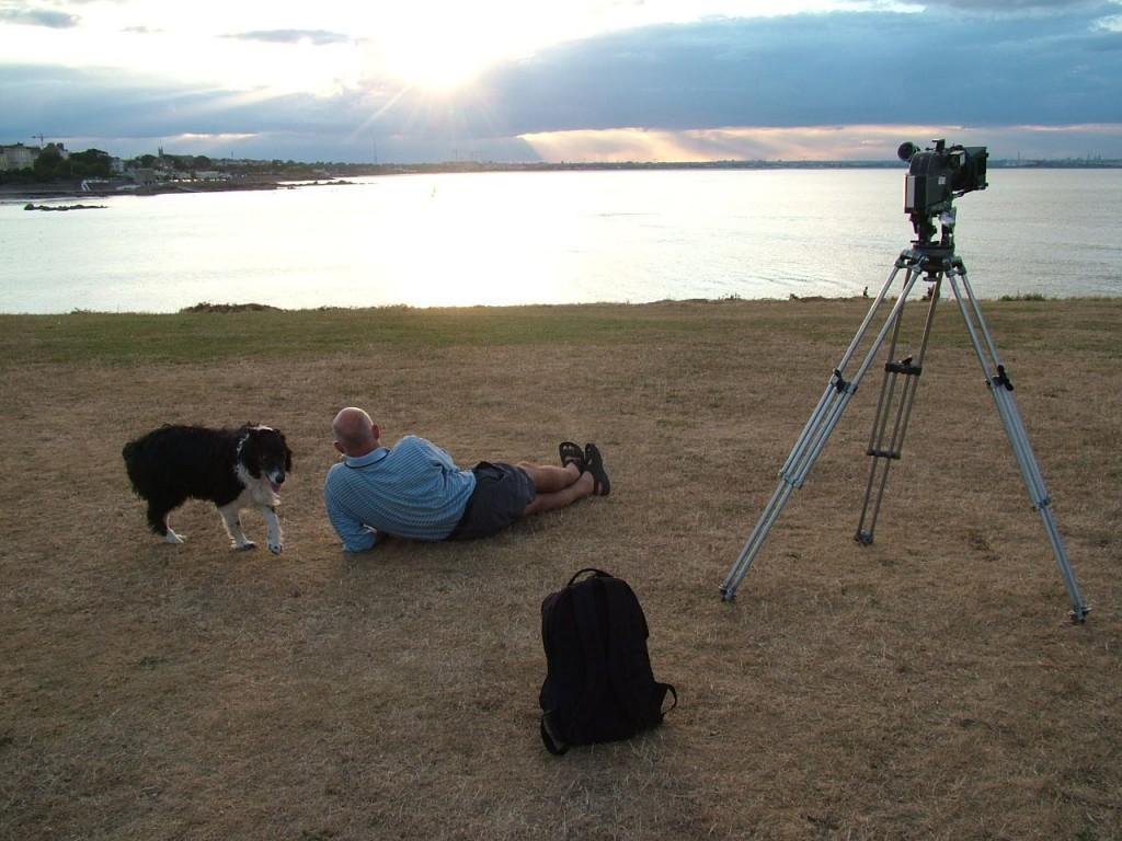 Aleana Egan: Man with a Movie Camera, photograph, 2006; Image courtesy Aleana Egan.