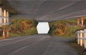 Test 6 (polygon tunnel), film still, 2012