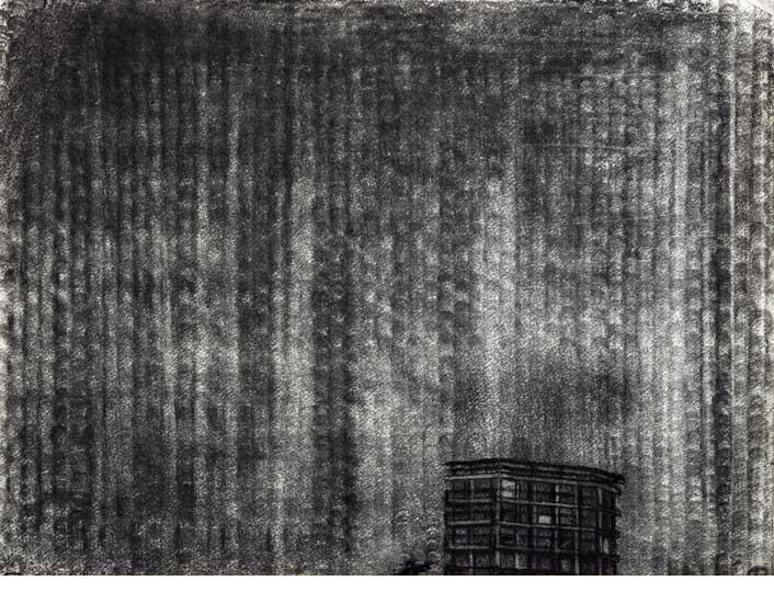Gary Coyle: Arrrgh, charcoal, 22x62cm, 2012; Image courtesy the artist.
