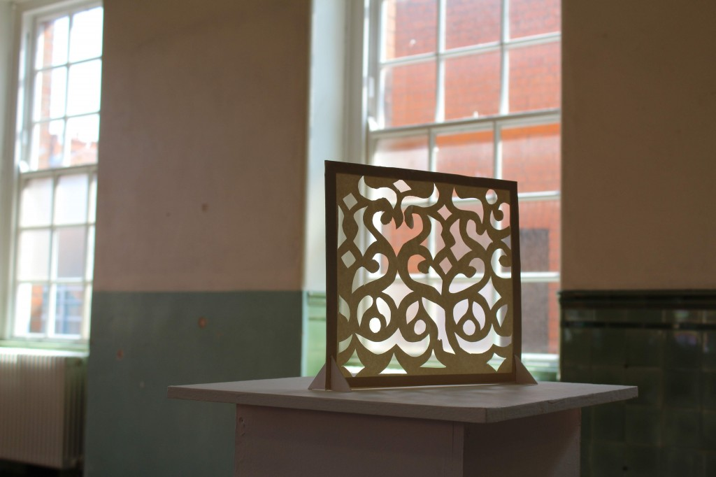 Laragh Pittman: Museum of the Re-Found, stencil (St Patrick's Cathedral), 2013; Courtesy the artist.