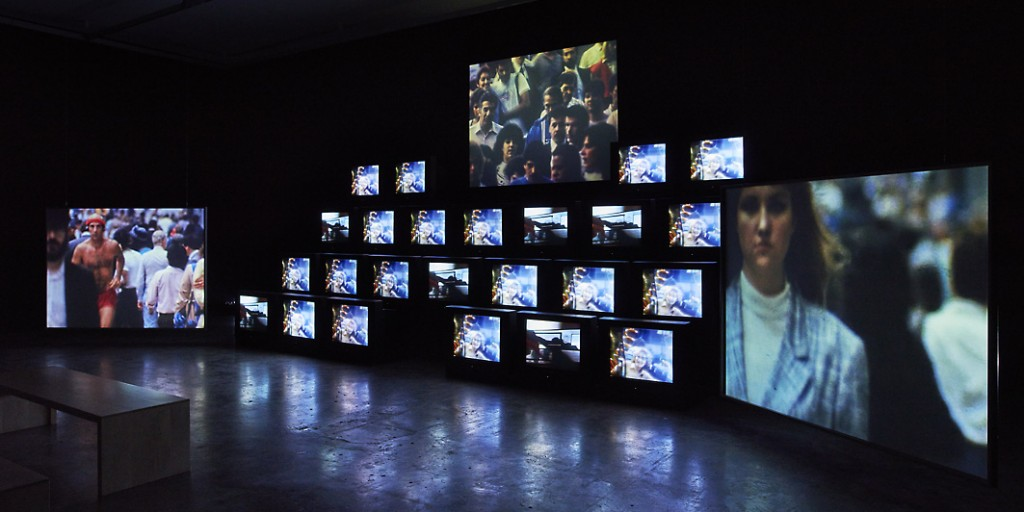 Gretchen Bender, Total Recall, 1987, courtesy the Estate of Gretchen Bender. Installation view Project Arts Centre, 2015 (17)